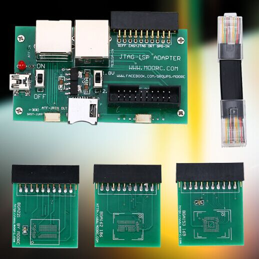 US $29 9  MOORC JTAG ISP ADAPTER 5 in 1 BGA169E BGA162 BGA221 support  EASYJTAG ATF GPG EMMC BOX free shipping ใน MOORC JTAG ISP ADAPTER 5 in 1  BGA169E