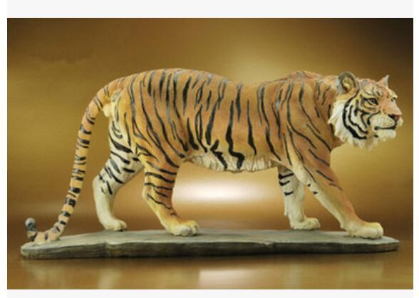Animaux tigre d'ameublement société commémorative cadeau idées décoration résine artisanat sculpture zodiaque tatue sculpture