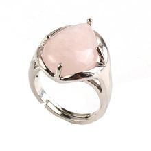 100 уникальное регулируемое кольцо для пальца из камня в форме