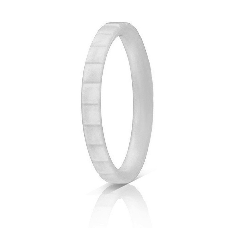 Sitaicery Fashion 3mm Step Silicone Ring For Women Wedding Rings Sports Hypoallergenic Flexible Woven Rubber Men 39 s Ring Jewelery in Wedding Bands from Jewelry amp Accessories