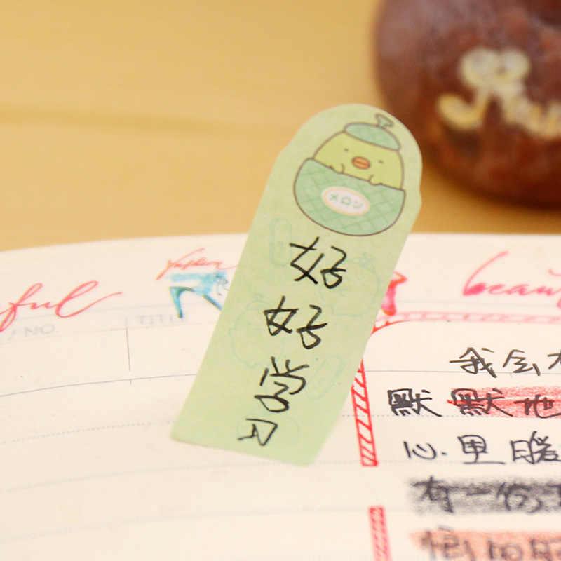 ใหม่น่ารักมุมสัตว์ดัชนีหมายเหตุ Memo Pad Sticky Notes Memo โน้ตบุ๊คเครื่องเขียนหมายเหตุสติกเกอร์กระดาษอุปกรณ์โรงเรียน