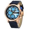 2016 mens relógios curren 8170 marca original de luxo pulseira de couro genuíno japão movimento homens de negócios relógio de quartzo reloj hombre