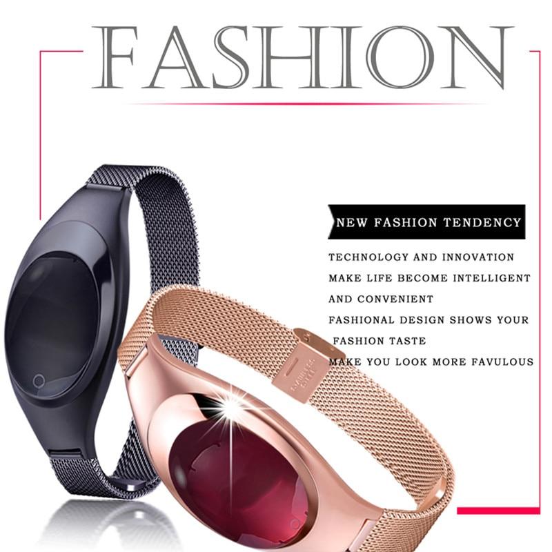 Z18 Smart femmes Bracelet Bluetooth tracker intelligent avec moniteur de fréquence cardiaque de pression artérielle podomètre Fitness Tracker Android IOS
