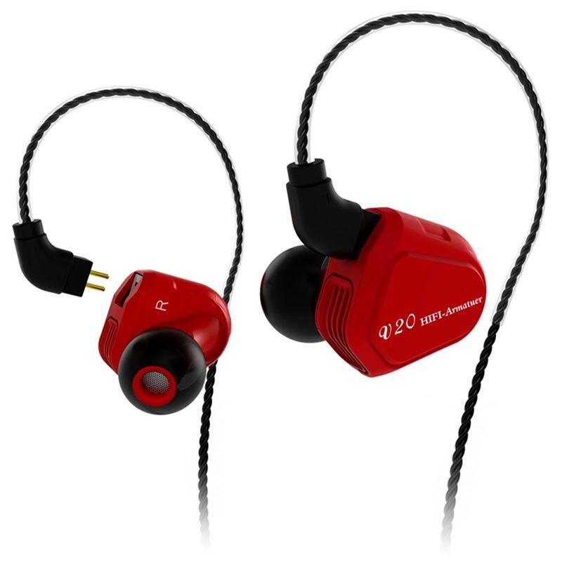 Earphones TRN V20 DD+BA Hybrid In Ear Earphone HIFI DJ Monitor Running Sport Earphone Earplug Headset With 2PIN Cable Earbuds fashion professional in ear earphones light blue black 3 5mm plug 120cm cable