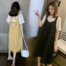 Summer Clothes for Women Two Piece Outfits Sets Club Outfits Kawaii Skirt Set White T-shirt + Black Lace-up Strap Skirt apricot lace up slit side two piece outfits