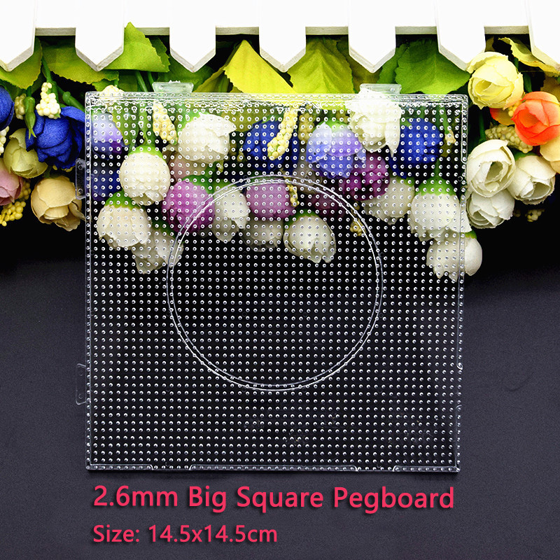 4pcs/set 2.6mm Bead Square Pegboard Hama beads Puzzle 14.5x14.5cm Template for 2.6mm Perler Beads Toys