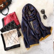 REALSISHOW Plaid Silk Scarf For Women 2019 Korean Version Female Long Shawls and Wraps New Style Bandana Windbreak Hijab Scaves