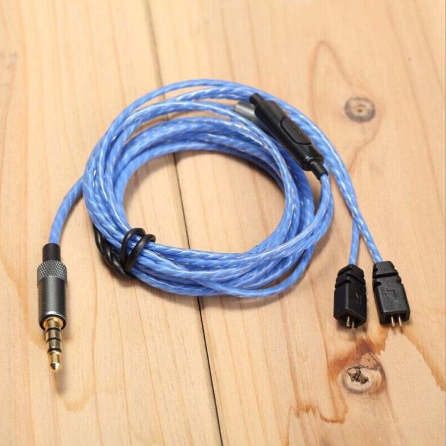 2 broches Remplacement Câble pour Logitech UE TF10 TF15 5pro SF3 écouteurs Mise À Niveau HIFI Sport Casque Câbles pour iphone 7 xiaomi mp3