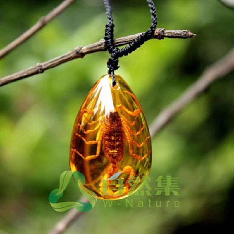 Moda insect golden scorpion ambers gota pingente colar jóias presentes para mulher