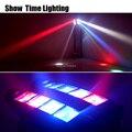 Bom efeito disco led dj luz uso para festa barra ktv led feixe aranha movendo a cabeça luz mostrar entretenimento em casa dança