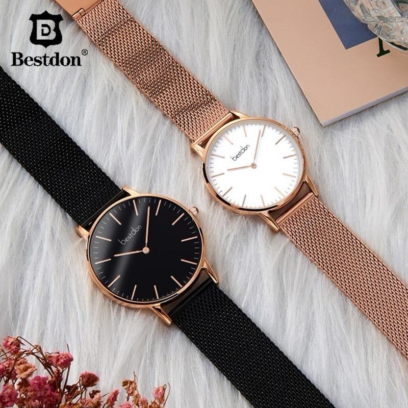 Bestdon Ultra Thin Watches Simple Luxury Brand 5 5mm Full steel Watch Men Fashion Waterproof Quartz
