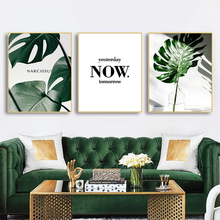 Green Plants Nordic Canvas Prints Painting Home Decoration Wall Art Pictures Calligraphy For Living Room Bedroom