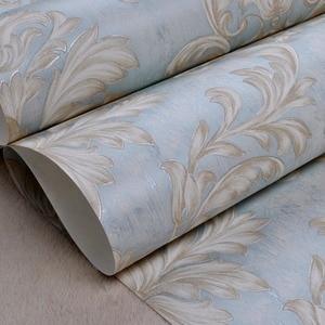 Image 5 - Distressed Tapete für Wände 3 d Vintage Vlies Tapete Rollen Teal Blau Damast Wand Papier Blumen für Schlafzimmer 10m