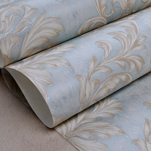 Image 5 - Distressed Wallpaper for Walls 3 d Vintage Non Woven Wallpaper Rolls Teal Blue Damask Wall Paper Floral for Bedroom 10m