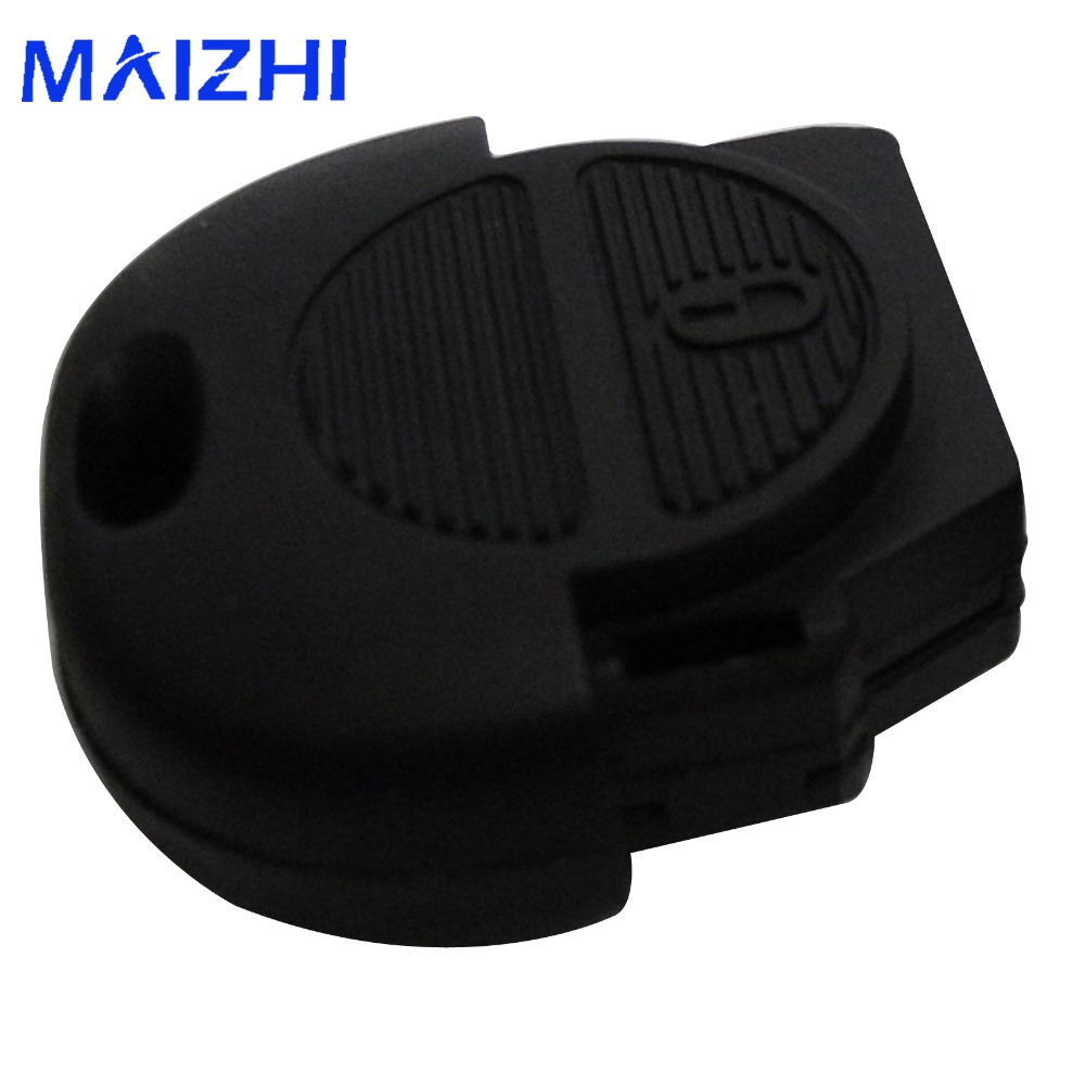maizhi 2 Button Remote Flip Fob Car Key Shell for Nissan Micra Almera Primera X-Trail Replacement Uncut Blade Car Key Case Cover cawanerl car sealing strip kit weatherstrip rubber seal edging trim anti noise for nissan almera march micra note pixo platina