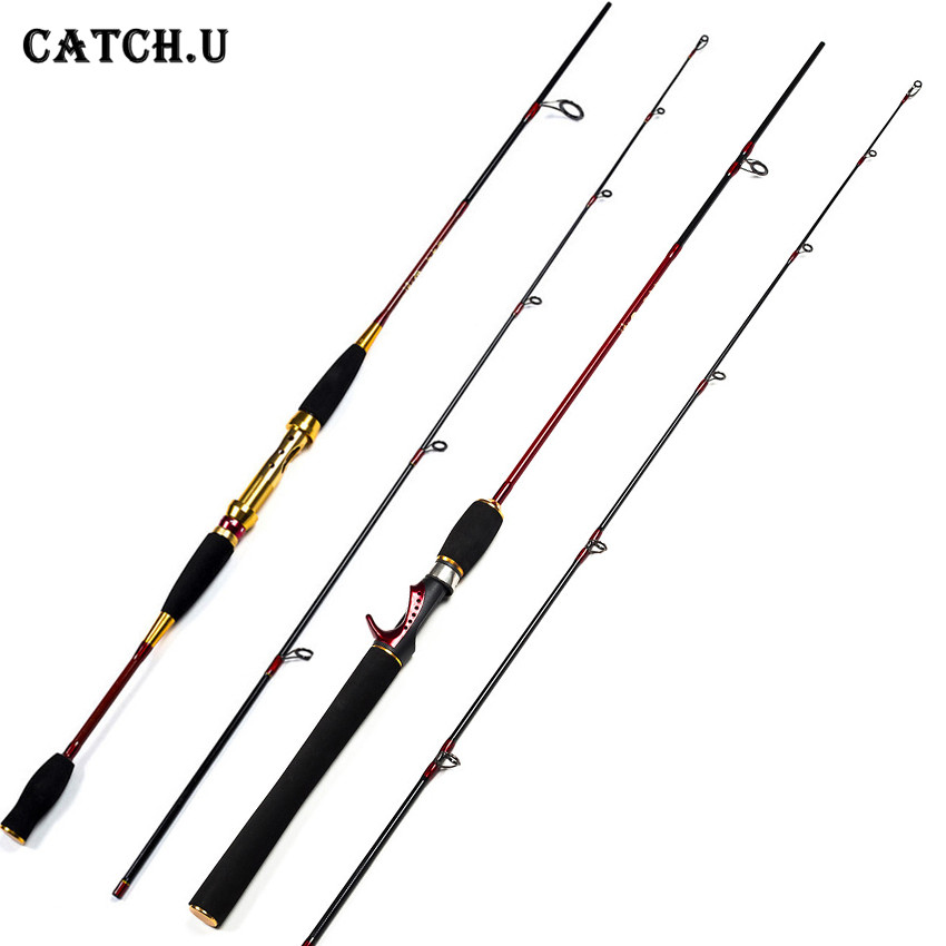 Catch.U 1.8M Red Fishing Rod Carp Rods Lure Casting Spinning Fishing Rod Carbon