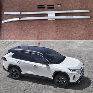Image 2 - Fit עבור טויוטה RAV4 XA50 2019 2020 שחור אלומיניום סגסוגת רכב אוטומטי גג Rack Rails ברים Carrier בר