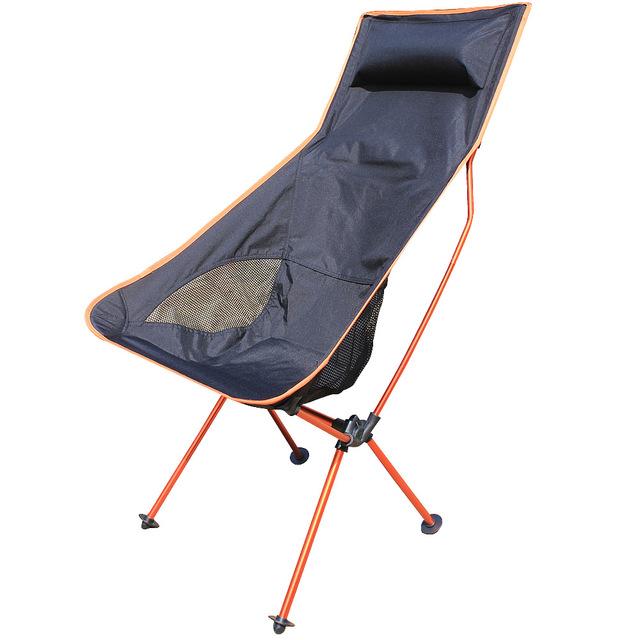 Liga de Alumínio Cadeira De Pesca Cadeiras Dobráveis portátil 600D Oxford Cadeira de Acampamento CHURRASCO Piquenique Ao Ar Livre Cadeiras de Praia com Saco de Laranja