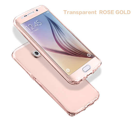 for Samsung galaxy S6 S7 edge S8 S9 Plus S3 duos S4 S5 neo Note 8 9 3 4 5 Core Grand Prime 360 full Clear Cover Cell Phone Case