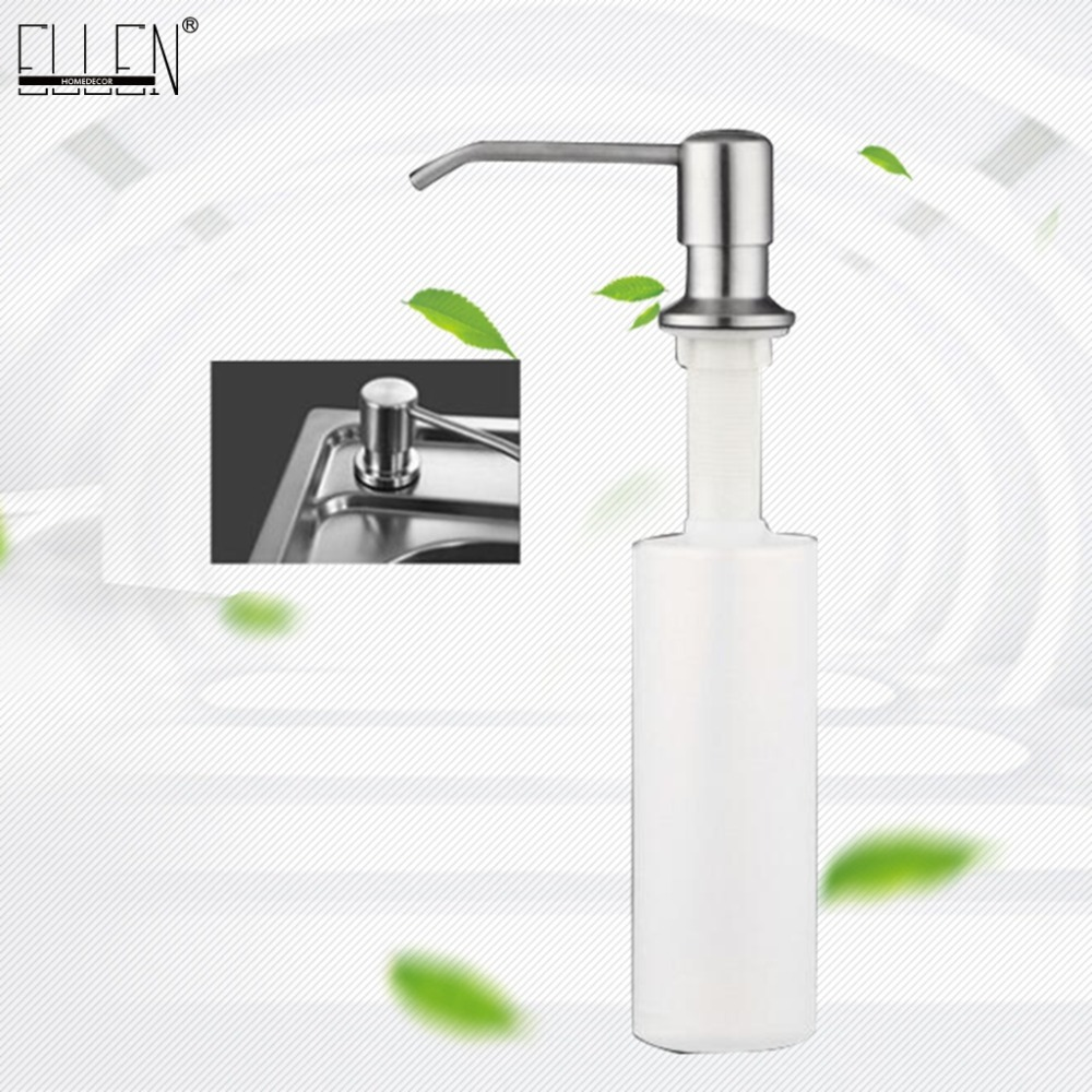 Us 7 9 50 Off Kitchen Soap Dispensers Stainless Steel Kitchen Sink Counter Top Soap Dispenser El8406 In Liquid Soap Dispensers From Home Improvement