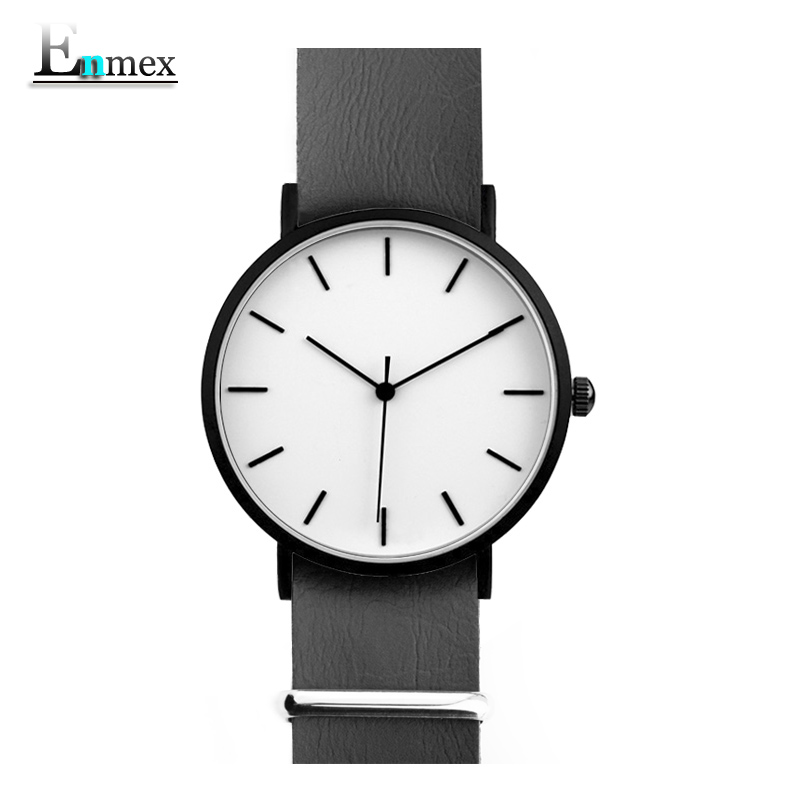 men gift font b Enmex b font brief design removable strap creative Ultrathin watch simple and