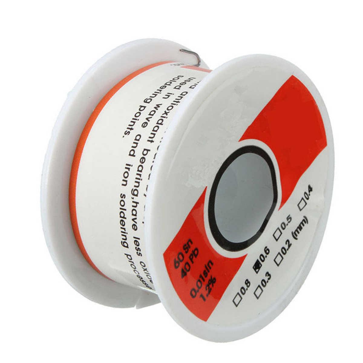 Fine Solder Wire 0.6mm 60//40 2/% Flux Reel Tube Tin lead Rosin Core Soldering