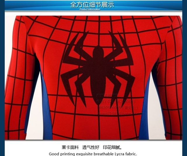 DB23580 Adult spiderman costume-10
