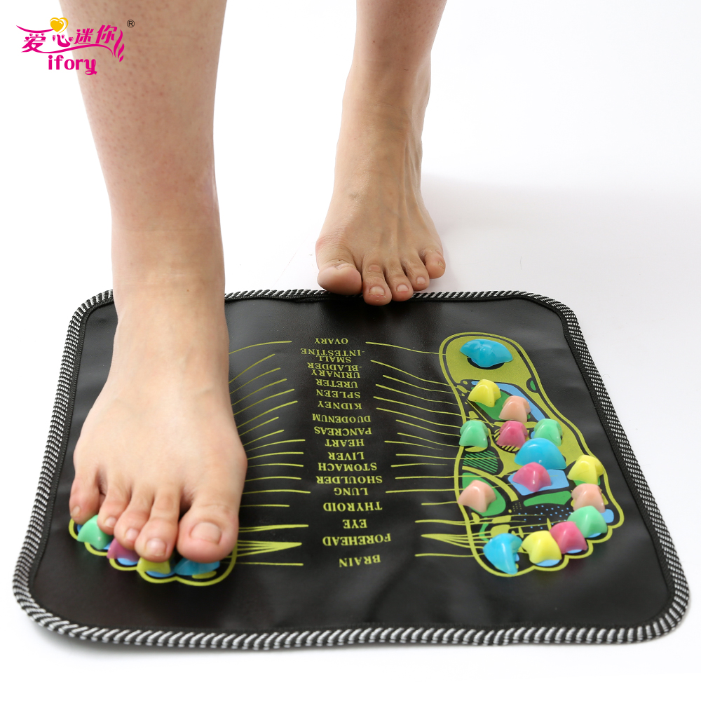 Hot Sale Colorful Plastic Foot Massager Pad Reflexology Walk Stone Acupressure Mat Pad Massageador for Foot Leg Pain Relief