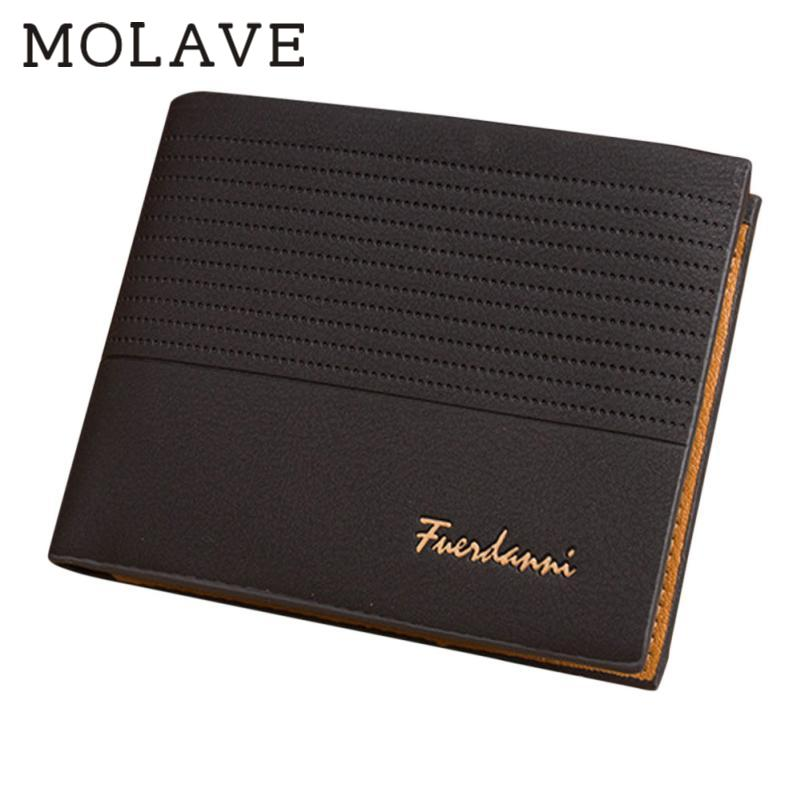 MOLAVE Wallets Male Solid CardHolder Man Embossing Dull Polish Wallet Pocket Credit Card ...