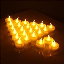 12 шт./упак. мерцающие светодиодный Чай светильник мерцания Чай Свеча светильник вечерние свадебные свечи безопасности для дома украшения