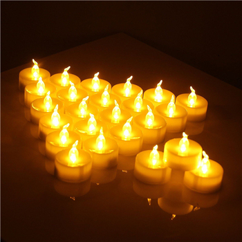 12 sztuk paczka migotanie bezpłomieniowe LED herbata światło migotanie herbata świeca światło wesele Candels bezpieczeństwa dekoracji wnętrz tanie i dobre opinie Art świeca Żel wosku Candle Light Filar Stron Ogólne świeca lot (12 pieces lot) 0 14kg (0 31lb ) 1cm x 1cm x 1cm (0 39in x 0 39in x 0 39in)