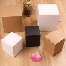 Heißer verkauf Braun weiß Karton Kraft Seife Verpackung box, kraft kartons Großhandel 50 stücke viel
