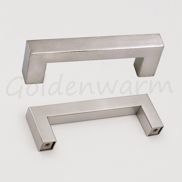 3 inch hole centers drawer pulls brushed nickel lsj12bss76 square rh aliexpress com 3 inch center kitchen cabinet pulls 3 3/4 inch kitchen cabinet pulls