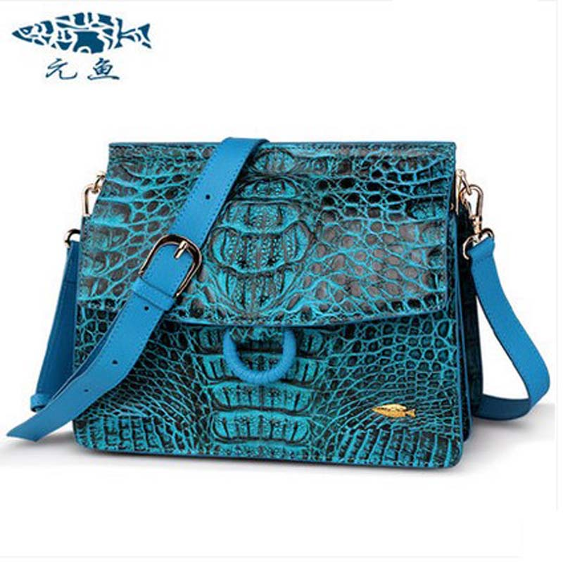 yuanyu New Thai crocodile skin women bag luxury banquet single shoulder bag imported genuine leather fashion women handbag yuanyu real snake skin women bag new decorative pattern women chain bag fashion inclined single shoulder women bag