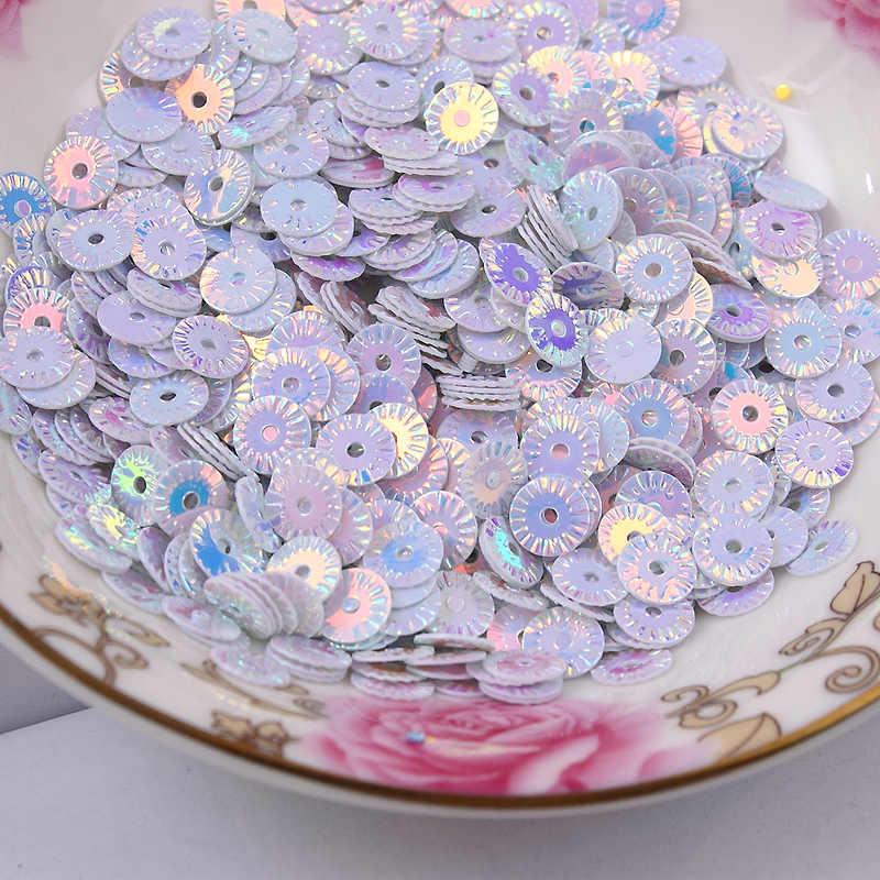 3000 шт 6 мм цветок Золотое покрытие набор пайеток для вышивки ПВХ DIY Paillette 14 цветов доступны конфетти Spangles
