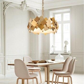Led e14 Nordic Acero inoxidable dorado diseñador luz LED. colgante luces colgante lámpara colgante luz para comedor vestíbulo