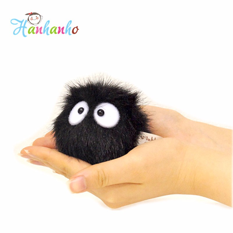 High Quality 1 Piece Dust Spirit My Neighbor Totoro Fairydust Pendant Plush Toy Doll with Ring Soft Stuffed Doll 1pcs 20cm my neighbor totoro cartoon plush toy totoro stuffed animal soft doll girl gift kids toy popular toy free shipping