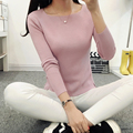2016 Cashmere Sweater Women Sweaters and Pullovers Women Fashion O- Neck Solid Color Long sleeve Knitted Sweater  JN300