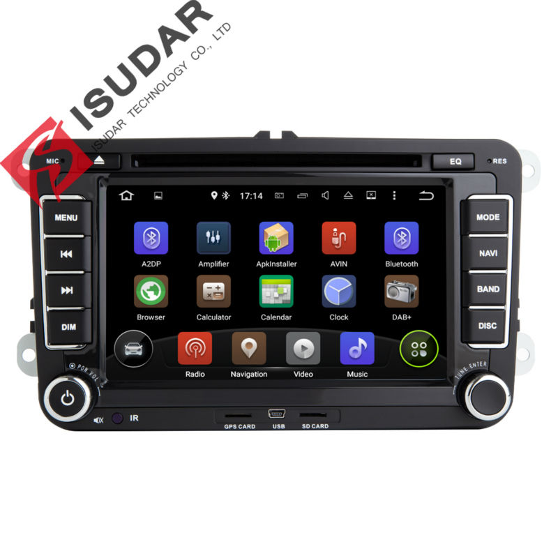 Android 5.1.1 7 Inch Car DVD Player For VW/Golf/Tiguan/Skoda/Fabia/Rapid/Seat/Leon/Skoda CANBUS Wifi GPS Navigation FM Radio Map
