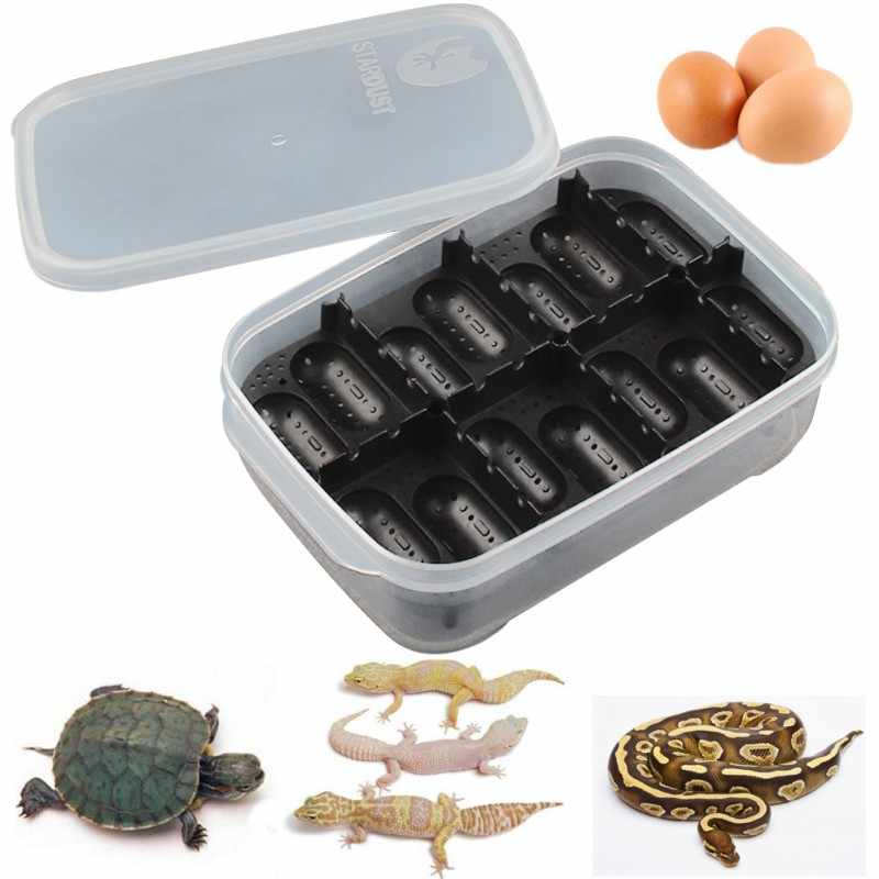 14 Slots Reptile Egg Incubator For Lizard Snake Gecko Eggs Hatcher Hatching Case Plastic Breeding Box