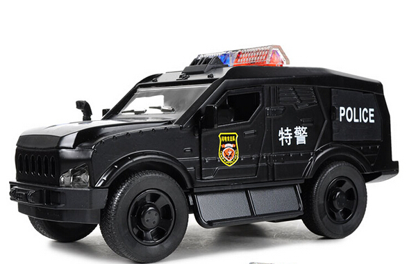 Police Motorcycle 1 28 Alloy Cast Pull Back Music Flashing Model Car Electric Simulation Kids Toys Beibei028