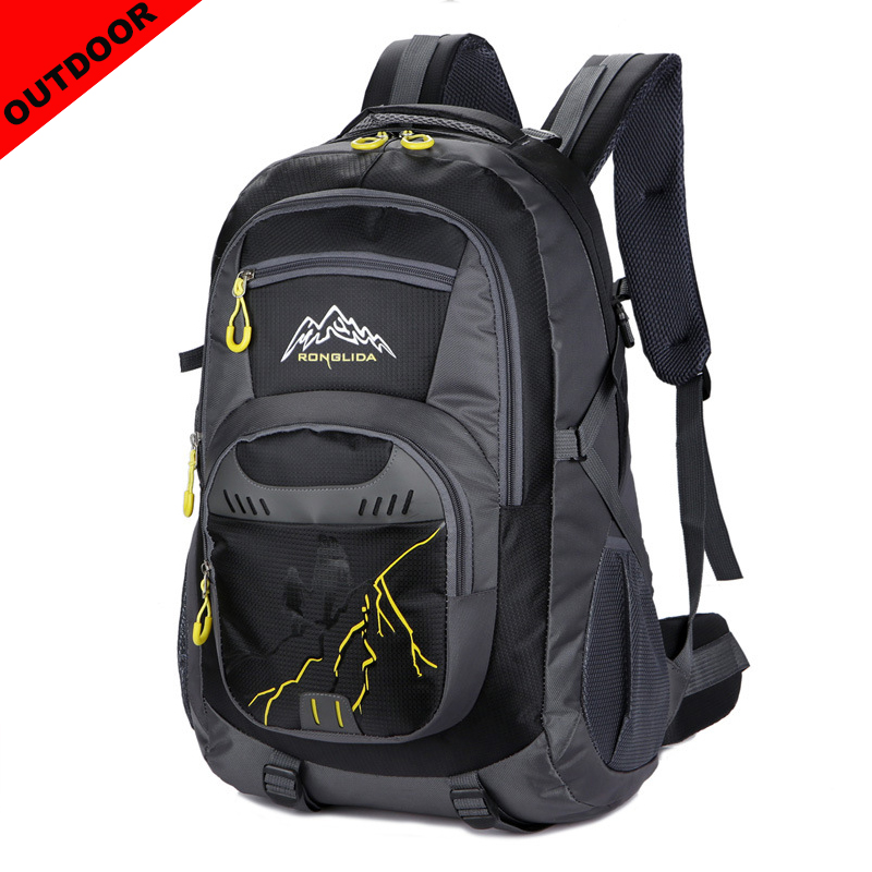 50 L Large Capacity Men Travel Bags Casual Men Woman Bag Nylon Waterproof Backpack Sports Outdoor Mountaineering Bags in Travel Bags from Luggage Bags