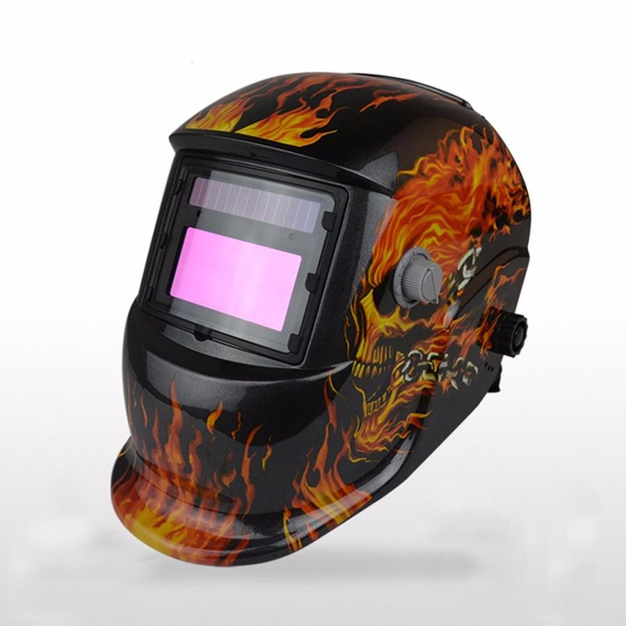 цена на HILDA New Skull Solar auto darkening MIG MMA electric welding mask/helmet/welder cap/welding lens for welding machine