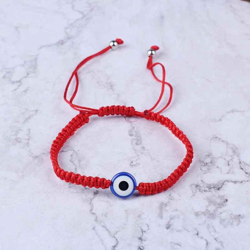 Thổ Nhĩ Kỳ Ác Bảo Vệ Mắt Kabbalah Sợi Dây Màu Đỏ Vòng Tay Fatima Tay Trang Sức