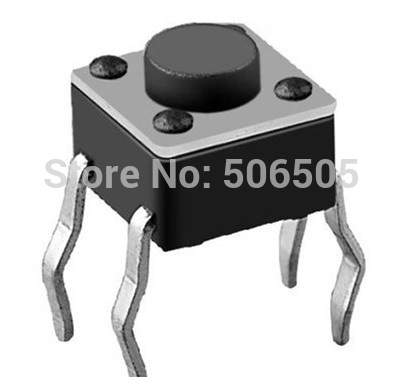 Free shipping 4.5X4.5X4mm 4pin DIP Tactile Tact Mini Push Button Switch Micro Switch Momentary 100pcs/lot