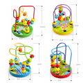 Mini Wooden toys Children Kids Baby Colorful Around Beads Educational Toy Funny For kids Gift
