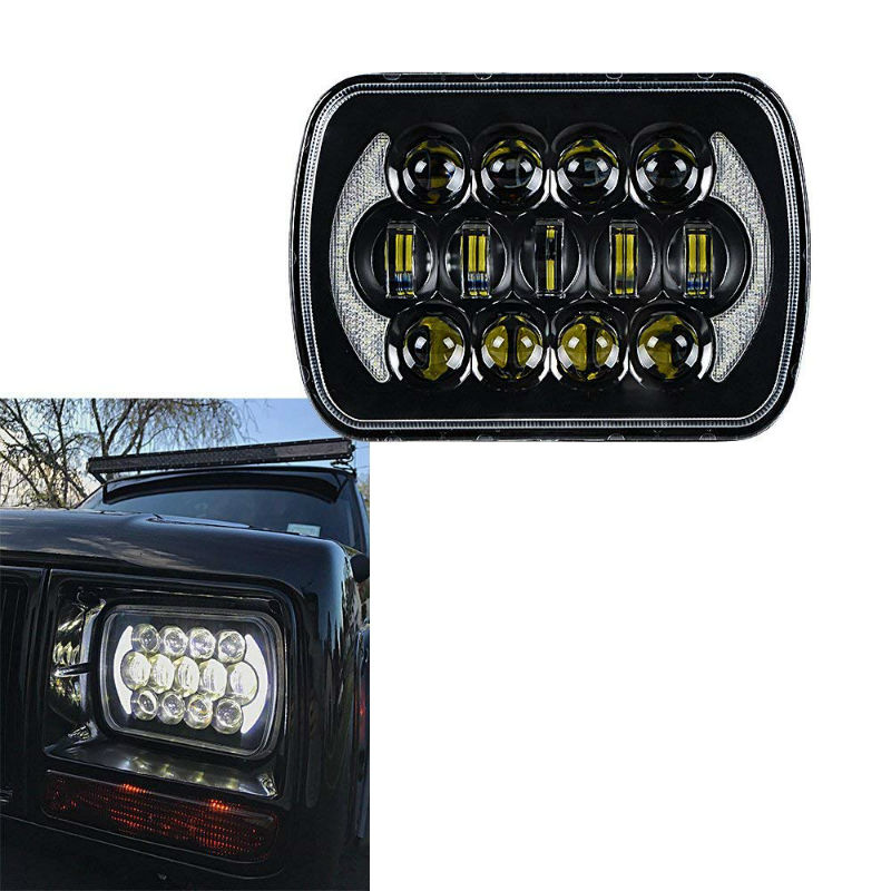 DOT Approved 85W5x7 7x6 Inch Rectangular LED Headlights for Jeep Wrangler YJ Cherokee XJ Trucks 4x4 Offroad Headlamp Replacement