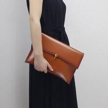 Frauen Tageskupplung Echtem Leder Hülle Tasche Bankett Frauen Handtasche Vintage Cowlayer Umhängetasche
