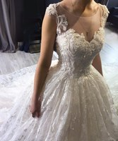 Eslieb Sweetheart Lace Beads Ball Gown Wedding dresses Long Train Wedding dress 2019 Made in China Guangzhou Wedding Dresses