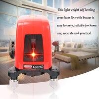 A8826D Mini Portable Laser Level Self leveling 360 Professional Cross Laser leveler 2 Line 1 Dot Red Line building Lazer Level